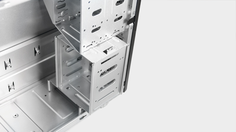 Optional 3-bay 3.5 HDD cage