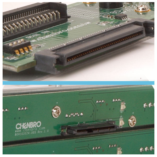 Optional SCSI backplane & SATAII/SAS backplane